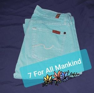 7 For All Mankind Turquoise Bootcut jeans
